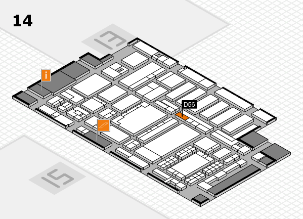 ProWein 2018 hall map (Hall 14): stand D56