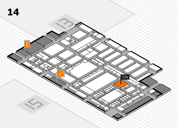 ProWein 2018 Hallenplan (Halle 14): Stand D29