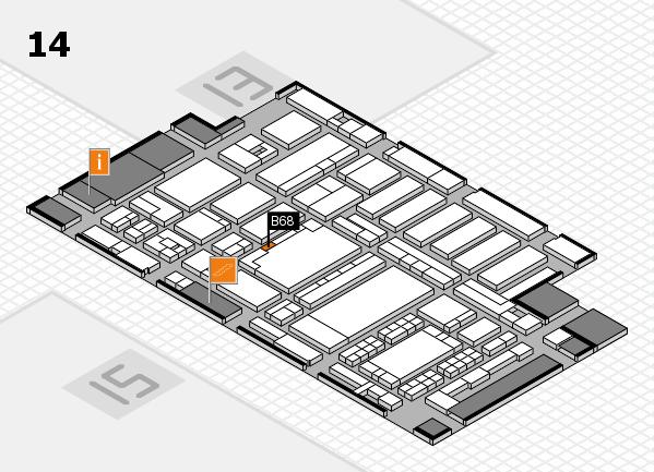 ProWein 2018 Hallenplan (Halle 14): Stand B68