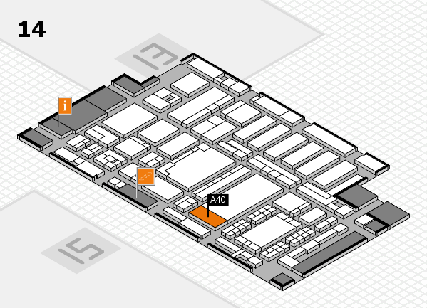 ProWein 2018 hall map (Hall 14): stand A40