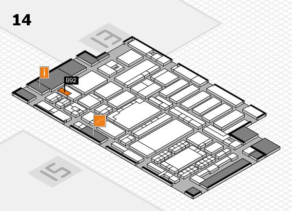 ProWein 2018 Hallenplan (Halle 14): Stand B92