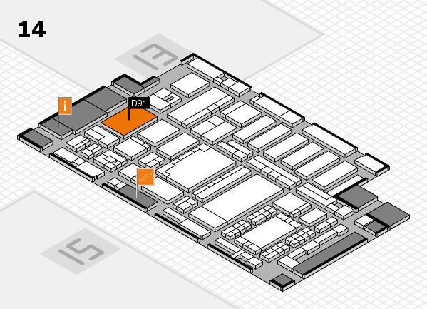 ProWein 2018 Hallenplan (Halle 14): Stand D91