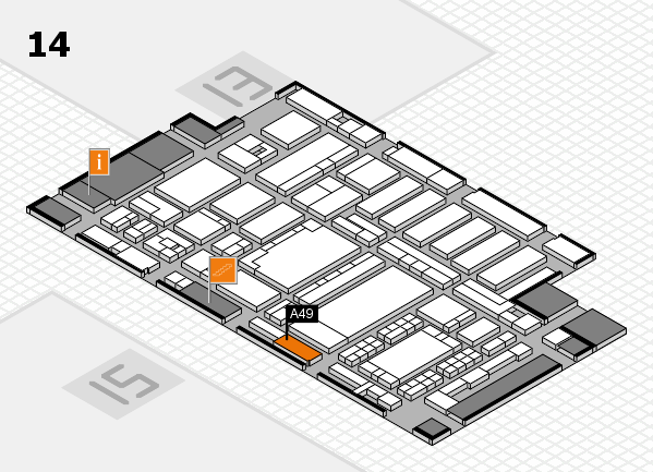 ProWein 2018 hall map (Hall 14): stand A49