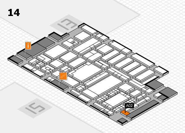 ProWein 2018 hall map (Hall 14): stand A02