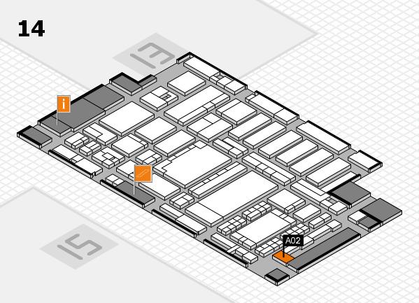 ProWein 2018 Hallenplan (Halle 14): Stand A02