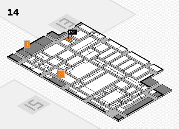 ProWein 2018 Hallenplan (Halle 14): Stand E95