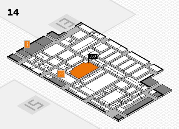 ProWein 2018 hall map (Hall 14): stand B60