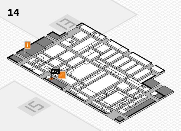 ProWein 2018 Hallenplan (Halle 14): Stand A73
