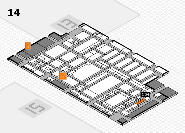 ProWein 2018 Hallenplan (Halle 14): Stand C04