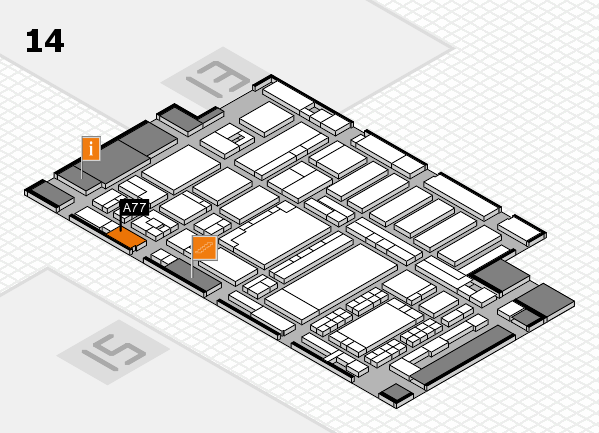 ProWein 2018 hall map (Hall 14): stand A77