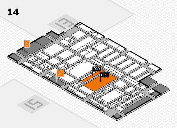 ProWein 2018 hall map (Hall 14): stand D39