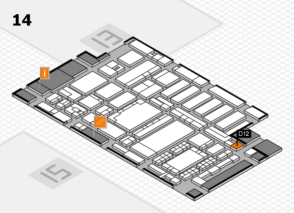 ProWein 2018 hall map (Hall 14): stand D12
