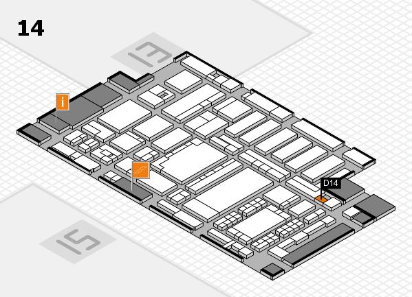 ProWein 2018 Hallenplan (Halle 14): Stand D14