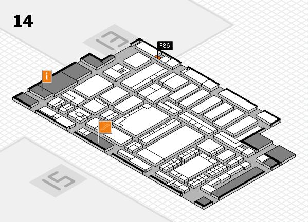 ProWein 2018 Hallenplan (Halle 14): Stand F86