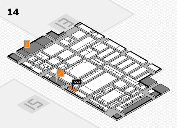ProWein 2018 Hallenplan (Halle 14): Stand A59