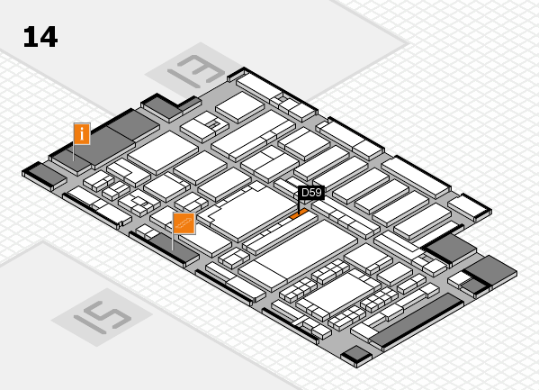 ProWein 2018 hall map (Hall 14): stand D59
