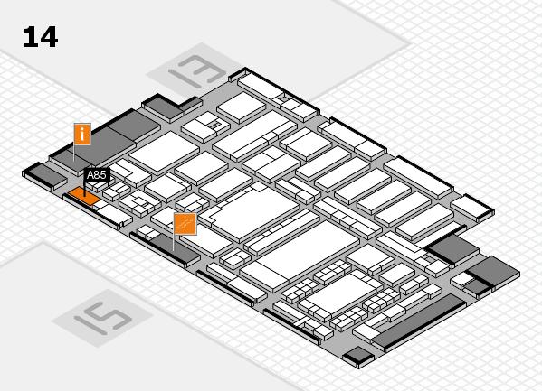 ProWein 2018 Hallenplan (Halle 14): Stand A85