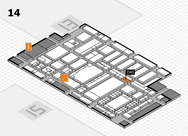 ProWein 2018 hall map (Hall 14): stand D40