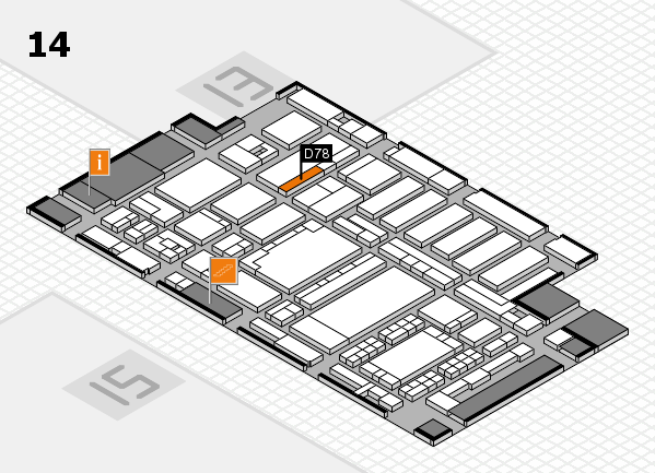 ProWein 2018 hall map (Hall 14): stand D78