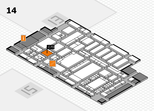 ProWein 2018 hall map (Hall 14): stand C70