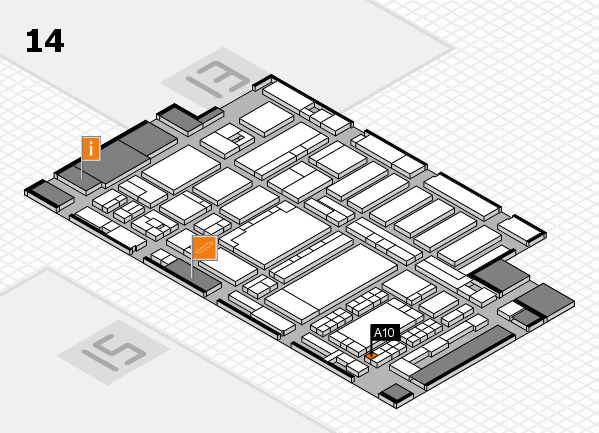 ProWein 2018 hall map (Hall 14): stand A10