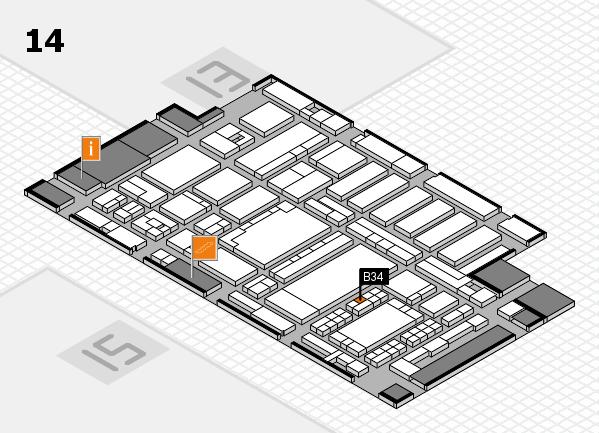 ProWein 2018 Hallenplan (Halle 14): Stand B34
