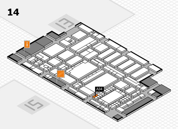 ProWein 2018 Hallenplan (Halle 14): Stand A34