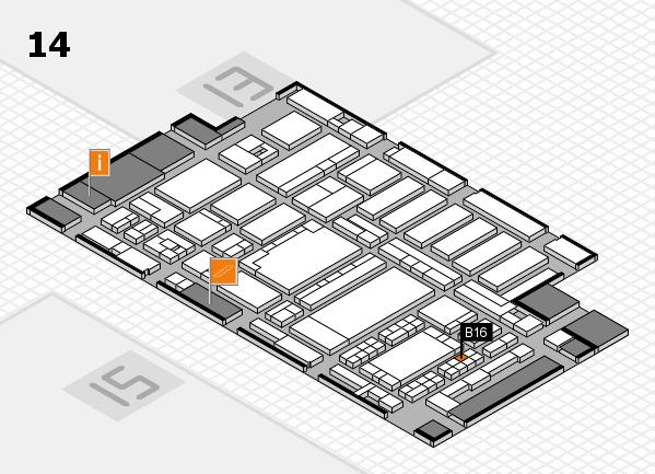 ProWein 2018 hall map (Hall 14): stand B16
