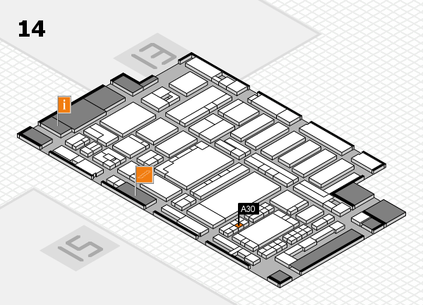ProWein 2018 Hallenplan (Halle 14): Stand A30