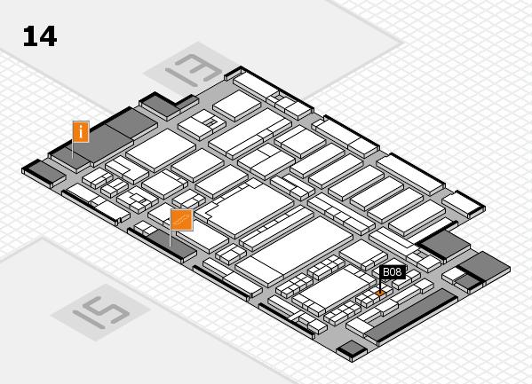 ProWein 2018 Hallenplan (Halle 14): Stand B08