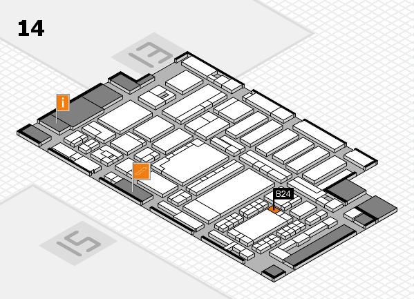 ProWein 2018 hall map (Hall 14): stand B24