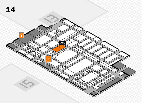 ProWein 2018 hall map (Hall 14): stand D69