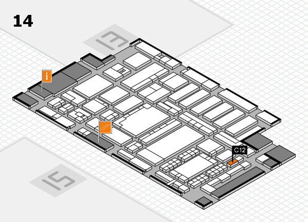 ProWein 2018 hall map (Hall 14): stand C12