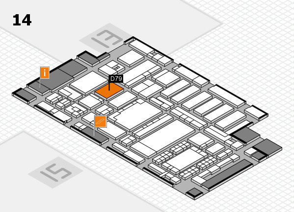 ProWein 2018 hall map (Hall 14): stand D79