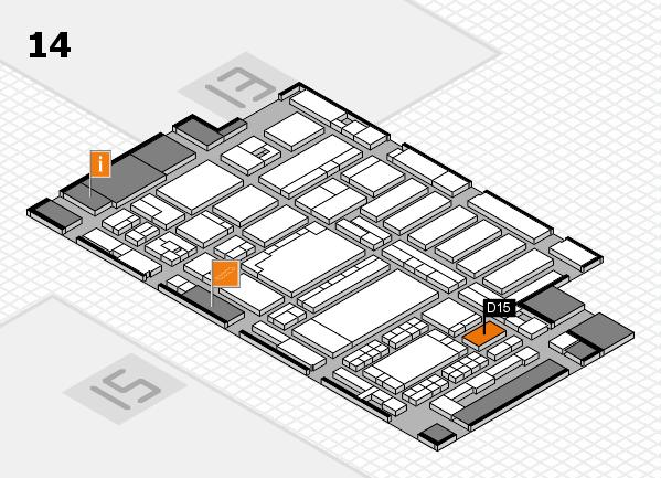 ProWein 2018 Hallenplan (Halle 14): Stand D15
