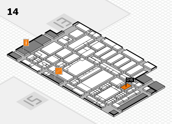 ProWein 2018 hall map (Hall 14): stand D15
