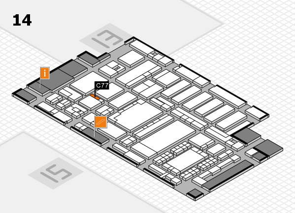ProWein 2018 hall map (Hall 14): stand C77