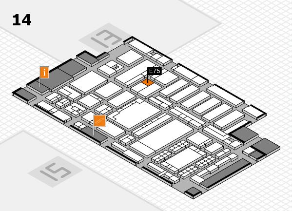 ProWein 2018 Hallenplan (Halle 14): Stand E75