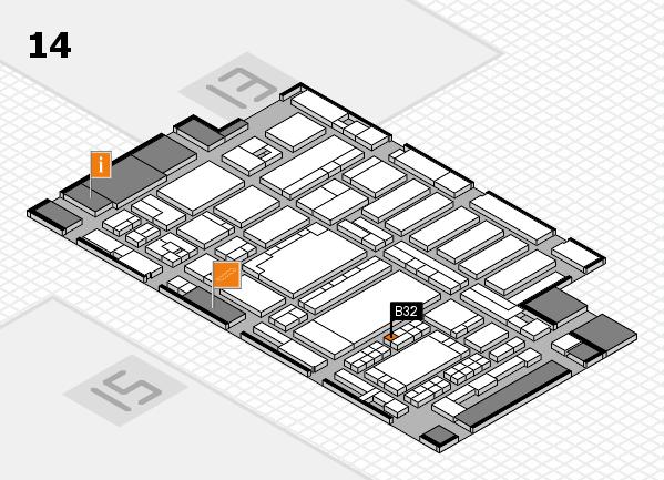ProWein 2018 hall map (Hall 14): stand B32