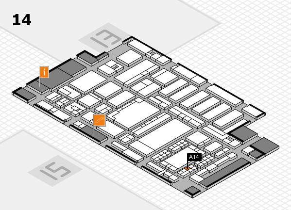 ProWein 2018 hall map (Hall 14): stand A14
