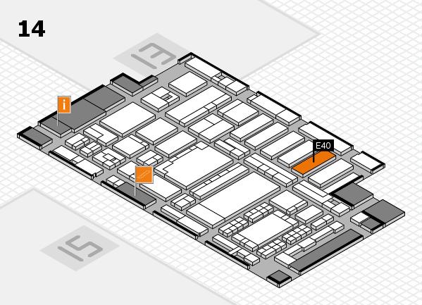 ProWein 2018 Hallenplan (Halle 14): Stand E40