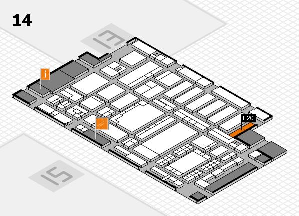 ProWein 2018 Hallenplan (Halle 14): Stand E20