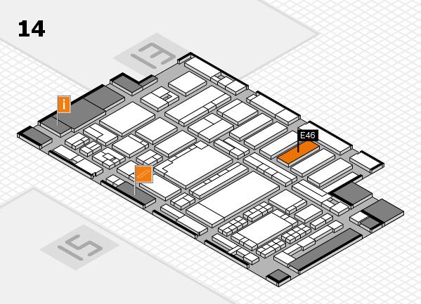 ProWein 2018 Hallenplan (Halle 14): Stand E46