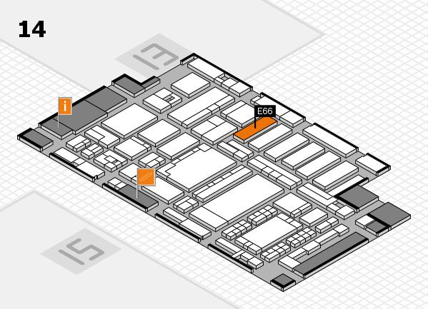 ProWein 2018 hall map (Hall 14): stand E66