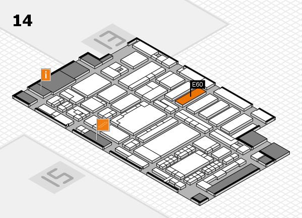 ProWein 2018 Hallenplan (Halle 14): Stand E60