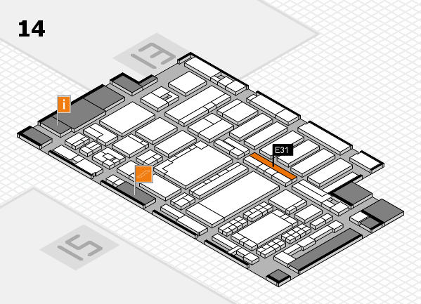 ProWein 2018 hall map (Hall 14): stand E31