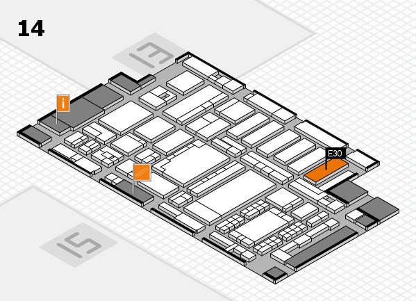 ProWein 2018 Hallenplan (Halle 14): Stand E30
