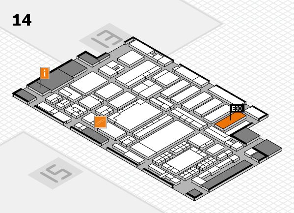 ProWein 2018 hall map (Hall 14): stand E30
