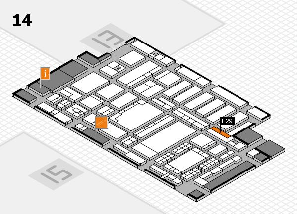 ProWein 2018 hall map (Hall 14): stand E29