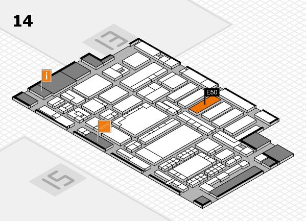 ProWein 2018 hall map (Hall 14): stand E50